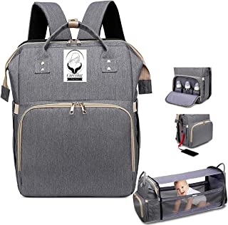 3 in 1 Diaper Bag with Changing Station, Baby Diaper Bag, Diaper Bag Backpack, Baby Bag with Built-in USB Charging Port an...