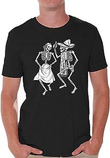Awkward Styles Men Skull Shirts Day of The Dead Sugar Skull T Shirt Skull Gifts