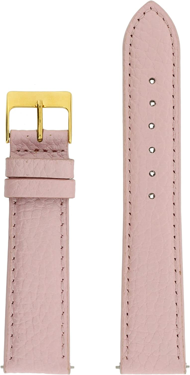 Watch Band Seattle Mall Max 67% OFF Genuine Leather Pink Quick m Release Pins 12 Built-in