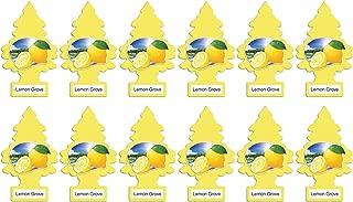 LITTLE TREES Car Air Freshener | Hanging Paper Tree for Home or Car | Lemon Grove | 12 Pack