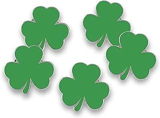 Irish Green Shamrock Enamel Lapel Pin Saint Patrick's Day (Wholesale) (10 Pins)