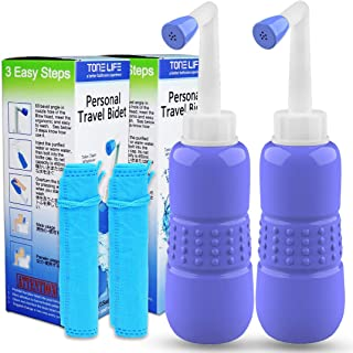 2PCS-Pack Handheld Personal Bidet - Portable Bidet Sprayer- Hand Bidet for Travel Bidet Bottle Easy-to-use with Travel Bag...