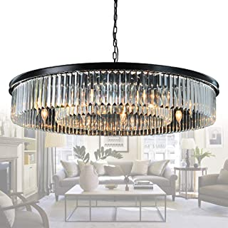 large glass chandelier