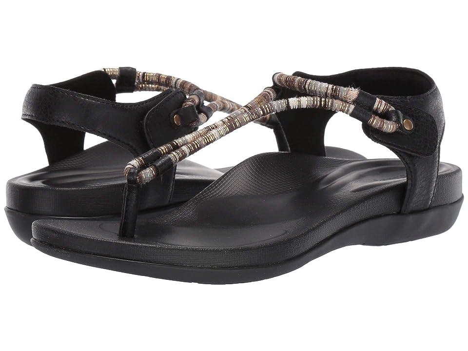 Image of Aetrex Bailey (Black) Women's Sandals