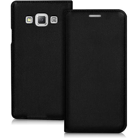 Kwmobile Hülle Kompatibel Mit Samsung Galaxy A3 2015 Handy Case Handyhülle Schutzhülle Klapphülle In Schwarz Elektronik