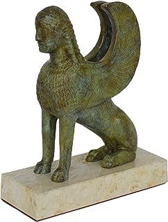 Estia Creations Sphinx of Naxos Bronze sculpture - Archaeological Museum of Delphi reproduction