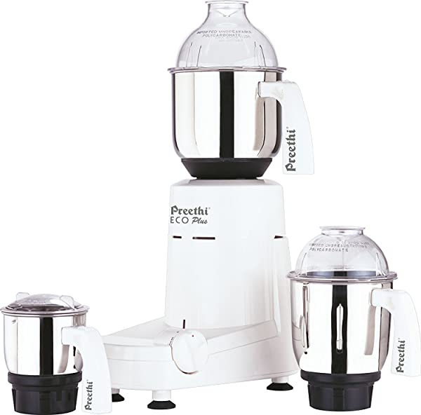 Preethi Eco Plus Mixer Grinder 110 Volt For Use In USA Canada
