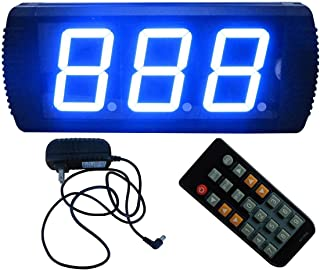 AZOOU 4-inch 3 Digital Days Countdown Timer Max Count up to 999 Days Display By IR Remote Control Blue Color