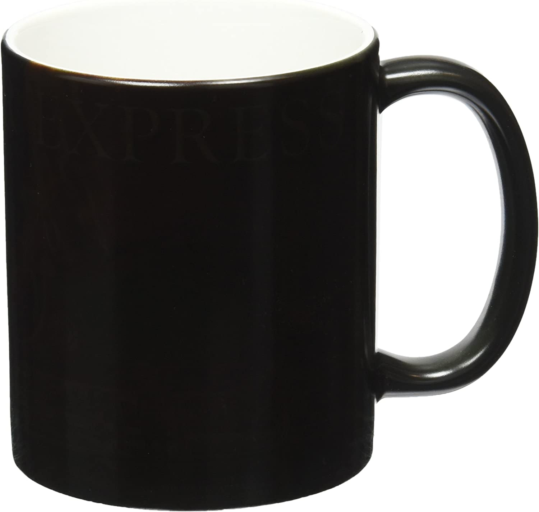 Morphing Mug Polar Express (Sleigh Ride with Santa) Ceramic Mug, Black
