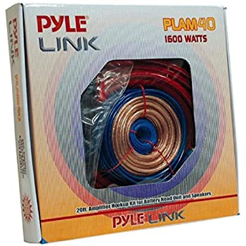 Amazon.com: Pyle Car Stereo Wiring Kit - Audio Amplifier & Subwoofer Speaker  Installation Cables (4 Gauge), Blue (PLAM40): Car Electronics | Pyle Audio Car Stereo Wiring Diagram |  | Amazon.com