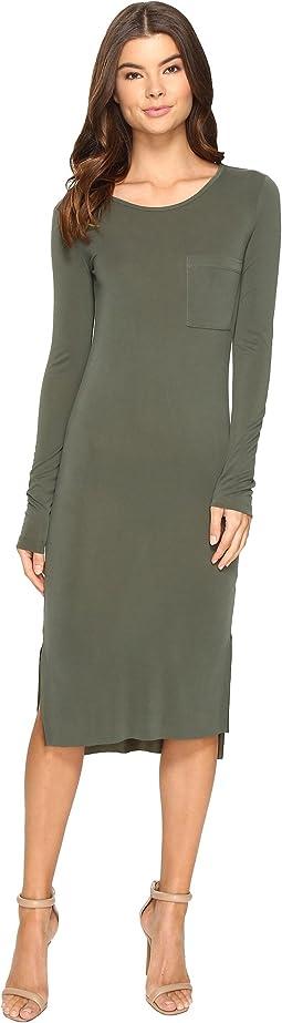 Culture Phit - Fleta Long Sleeve Midi Dress with Pocket