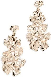 Stella + Ruby Women's Leaf Dangle Earrings