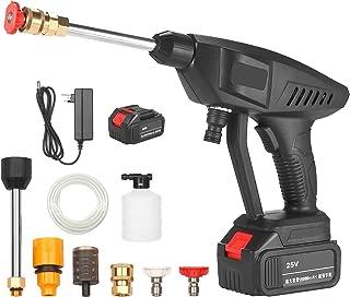 KKmoon 25V Portable High Pressure Washer Machine 15A 30Bar Cordless Washer Gun With Foam Generator Nozzle Water Pump Auto ...
