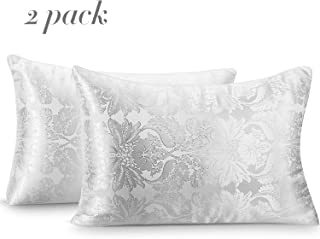 DYD Down Alternative Bed Pillows for Sleeping (Pack of 2) Luxury Pattern Hypoallergrnic Microfiber Filling Ultra Soft Dust Resistent Pillow for Side/Back/Stomach Sleepers, Queen Size