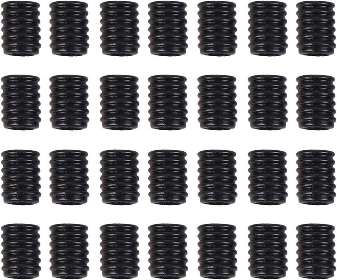 sancuanyi 100 St/ück Elastische Gummiband mit Kordelstopper aus Silikon,Elastische Schnur mit Verstellbarer Spiral Schnallen f/ür DIY Ohrensch/ützer und Handwerk Pink, Gelb, Grau, Rot, Blau