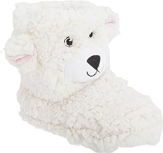 Botines de estar por casa con diseño de oso de peluche para niños