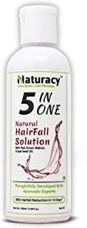 Naturacy 5 In One: Hair Growth & Hair Fall Control With Onion, Walnut & Grapeseed Oil, Infused with Redensyl & Saw Palmett...