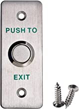 UHPPOTE Stainless Steel Panel Push Release Out Unlock Exit Button Switch for Hollow Door