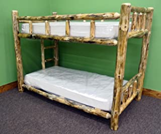 log bunk beds twin over twin