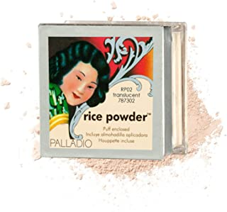 Palladio Rice Powder, Translucent, Loose Setting Powder, Absorbs Oil, Leaves Face Looking and Feeling Smooth, Helps Makeup...