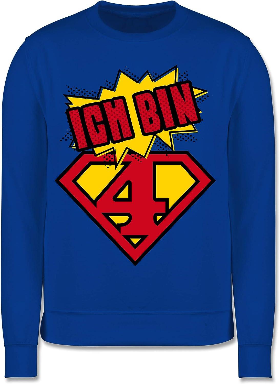 Geburtstag Kind Ich Bin 4 Superheld Shirtracer Kinder Pullover