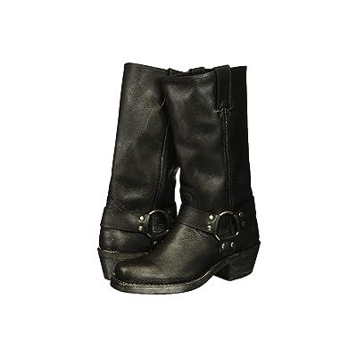 Frye Harness 12R (Black Multi Metallic Oiled Leather) Women