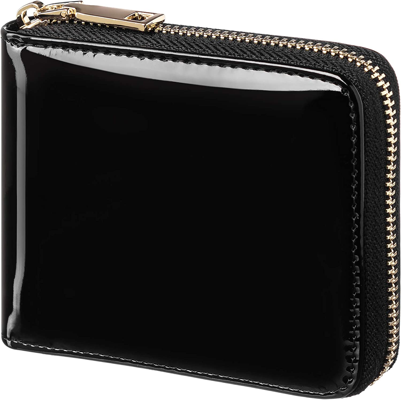 Zipper Wallet Zip Around Wallet Bifold Multi Card Holder for Men and Women