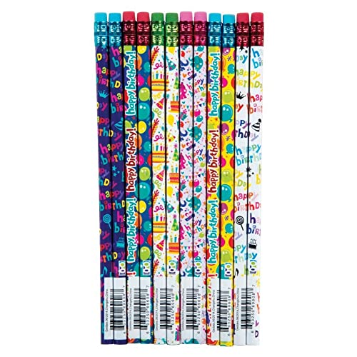 Raymond Geddes Its Your Birthday Pencil 72 Pack 69608