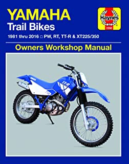 Yamaha PW, RT, TT-R & XT225/350 Trailbikes (81-16) Haynes Repair Manual (Haynes Powersport)