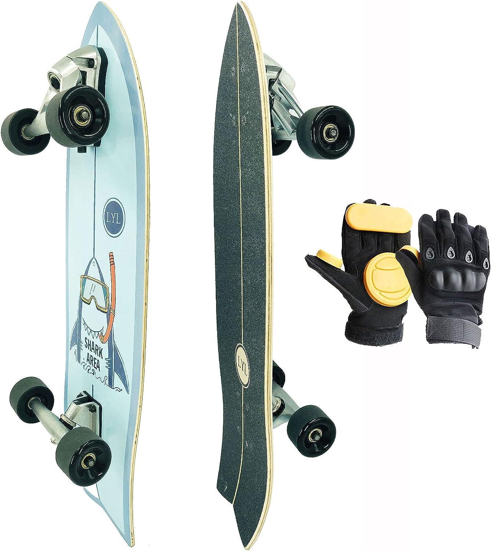 SANHAREN Surfing Skateboard 31X9.5inch Land City Cruiser Carver Max Arlington Mall 86% OFF