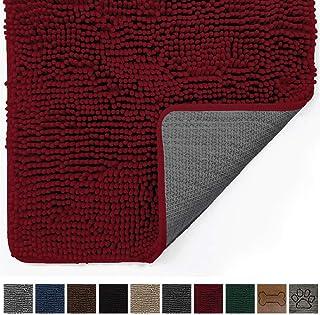 Gorilla Grip Original Indoor Durable Chenille Doormat, 30x20, Absorbent, Machine Washable Inside Mats, Low-Profile Rug Doormats for Entry, Back Door, Mud Room Mat, High Traffic Areas, Burgundy