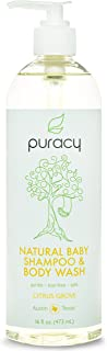 Puracy Natural Baby Shampoo & Body Wash, Tear-Free, Hypoallergenic, Sulfate-Free, 473 mL