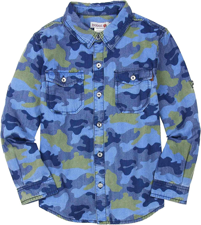 Boboli Boys Camo Print Shirt, Sizes 4-16