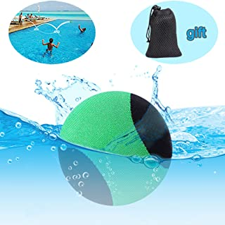 edealing Water Bouncing Ball for Pool & Sea with Net Bag - Fun Water Sports Game for Family and friends - Anti-cracking Soft and Strong Bounce - 2.17 Inch (Green)