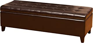 Best Selling Bonded Leather Storage Ottoman