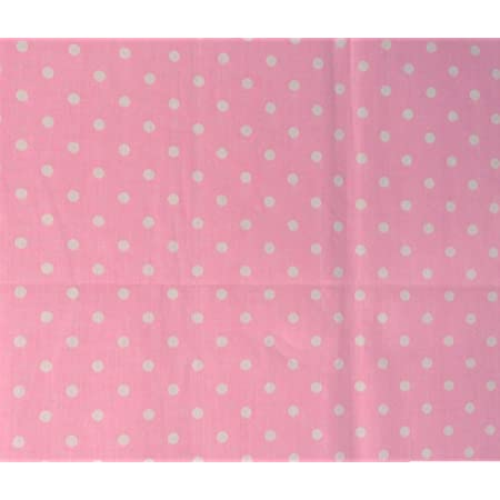 Fabric Freedom 6390 Baby Pink With White Spots 100/% Cotton Fabric