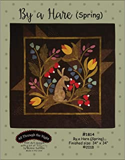 by a Hare (Spring) Applique Quilt Pattern by Bonnie Sullivan from All Through The Night #1814-34
