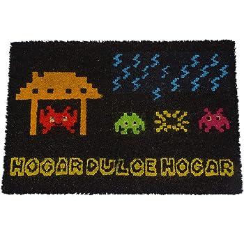 koko doormats Felpudo Entrada casa Original para casa y jardín, Space Invaders, felpudos Entrada casa Originales y Divertidos, 40x60x1.5 cm, Coco con Base Antideslizante de PVC: Amazon.es: Hogar