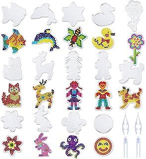 14 piezas diferentes placas de hierro en cuentas, placas transparentes con pinzas para regalo hecho a mano para niños de b...