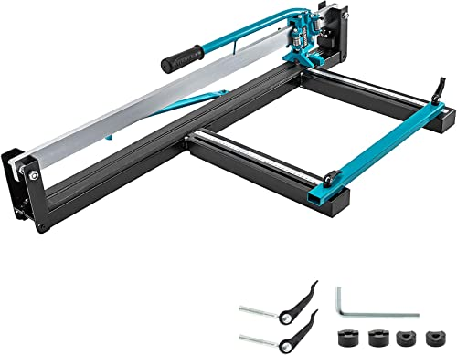 discount Mophorn 31 Inch Blue Manual Tile Cutter w/Precise Laser Positioning online & new arrival Anti-sliding Rubber Surface Single Rail & Bracket Suitable for Porcelain and Ceramic Floor Tiles (Aluminium) outlet sale