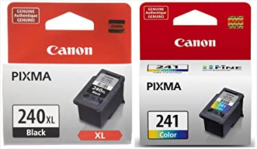Genuine Canon PG-240XL High Capacity Black Ink Cartridge (5206B001) + CL-241 Color Ink Cartridge (5209B001)