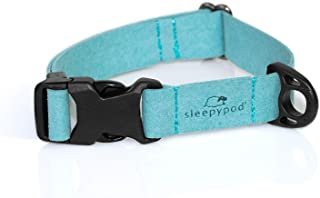 Sleepypod Comfort Suede Collar Dog (Extra Small, Blue Lagoon)