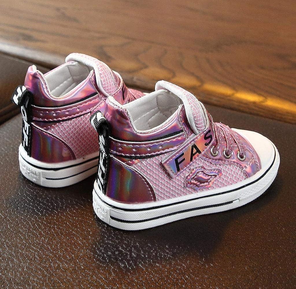 Scarpe Primi Passi Bimba Scarpe da Ginnastica Basse Bimba Suole Morbide Sneakers Scarpe Lettera Bling Scarpe Jimmackey