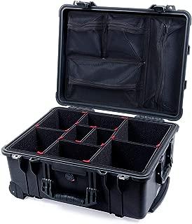 Black Pelican 1560 case, with TrekPak Divider System & 1569 Lid organizer.