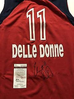 cea93728c5a Autographed/Signed Elena Delle Donne Washington Mystics Red Basketball Jersey  JSA COA