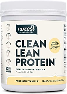 Nuzest Clean Lean Protein - Digestive Support, Pea Protein Powder with Added Probiotics, Vanilla, Vegan, Gut Health, Non-G...