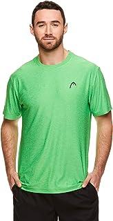 HEAD Men's Ultra Hypertek Crewneck Gym Training & Workout T-Shirt - Short Sleeve Activewear Top - Green - Medium