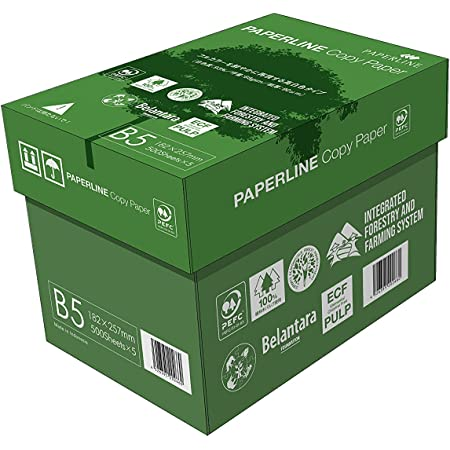 APP 高白色 コピー用紙 コピーぺーパー B5 白色度93% 紙厚0.09mm 2500枚(500枚×5冊) PEFC認証