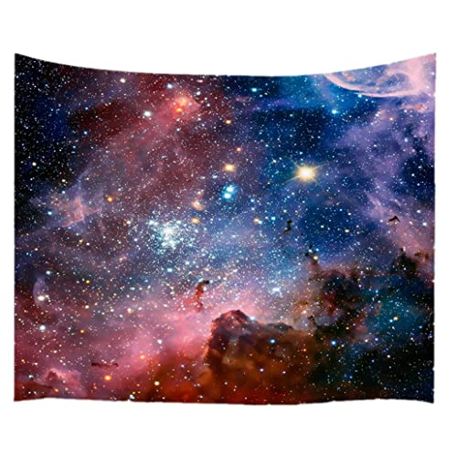 goodbath Space tapestry, Universe Nebel Star in Outer Space Fabric Wall Hanging for Living Room Bedroom Dorm, 80 x 60 Inch, Colorful