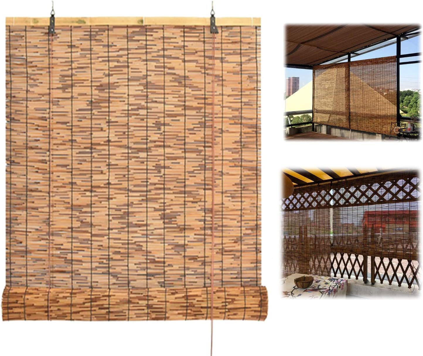 Vicareer Mail order 100% quality warranty Roll-up Reed Shade Patio Roller Shades Blinds Outdoor